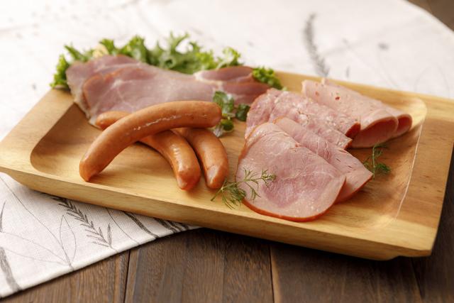 宮城・山形・岩手県産の豚肉を使用した東松島ハムの商品写真